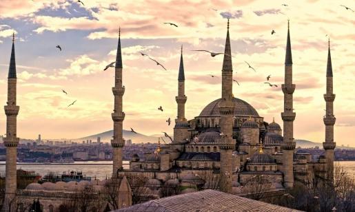 Голубая мечеть в Стамбуле (Турция)